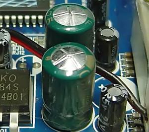 Компьютер выключается сам из-за вздутых конденсаторов