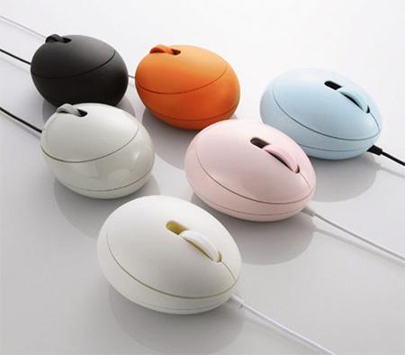 Яйцеобразная компьютерная мышка
