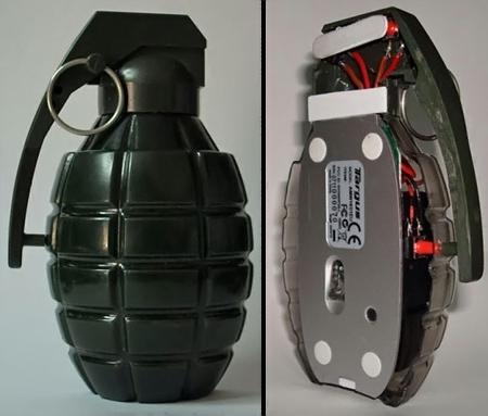 Компьютерная мышка в виде ручной гранаты